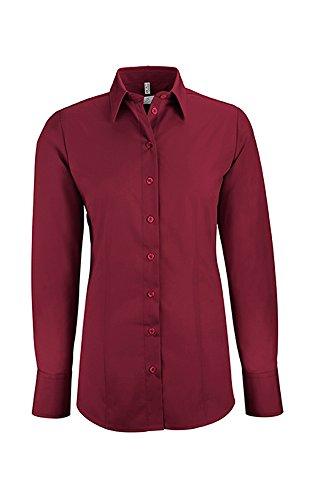 Camisas Manga Greiff Para Larga Bordeaux Red Mujer Clásico Zxn67zqw