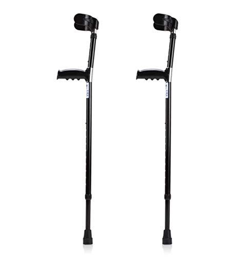 Aluminum Walking Forearm Ultra Crutches 1 Pair Tall Adult Adjustable Lightweight Arm Ergonomic Handle Grip Comfortable Wrist Molded High Density Sturdy