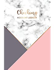 Checking Account Ledger: Marble Cover | 6 Column Payment Record and Tracker Log Book Checking | Account Transaction Register | Checkbook Balance Logbook