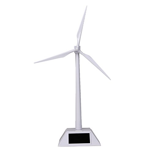 - Alloet Desktop Wind Turbine Model Solar Powered Windmills ABS Plastics White for Education or Fun