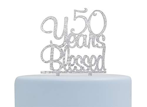 Decoración de acrílico para tarta de 50 años, 50 cumpleaños ...
