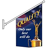 Vinyl Banner and PVC Pole Our Best Will Do Pole Banner