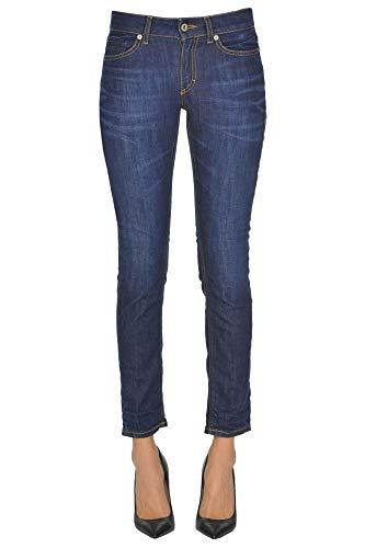 Mujer Ezgl030113 Algodon Azul Jeans Dondup UH1FxwWnx