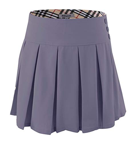 Bienzoe Girl's Classical Pleated School Uniform Dance Skirt