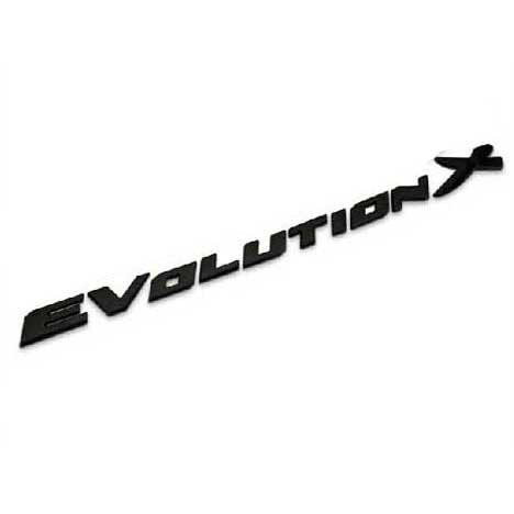 BENZEE B124-B Car Chromed Emblem Badge Decal Sticker Back Logo Black Evolution X For MITSUBISHI Lancer