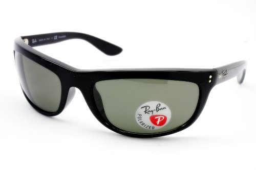 Brandname Ray-Ban 4089 Balorama Style Black Crystal Green Polorized Sunglasses by Luxottica