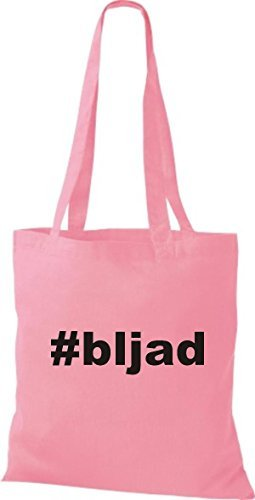 Shirtstown Stoffbeutel hashtag # bljad rosa Dv7sm