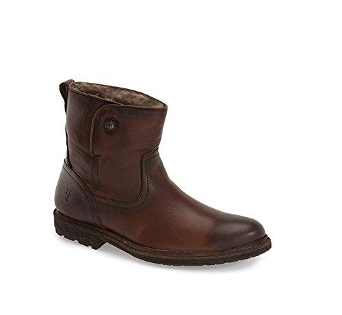 Frye Kvinna Mara Knapp Kort Boot Mörkbrun Mjuk Klassiska Läder