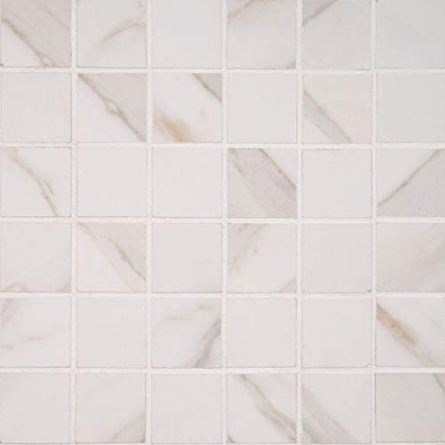 - Pietra Calcatta 2X2 Polished Mosaic, 20 SFT/CAE, (20 Pcs)
