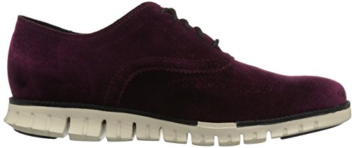 ... Cole Haan Hommes Zerogrand Aile Ox Cuir Cuir Oxford Textile Malbec  Velours / Ivoire