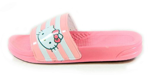 LALA US Summer Shoes Womens Lovely Hello Kitty Beach Pool 7 Slippers Pink size Zvxqxw56I
