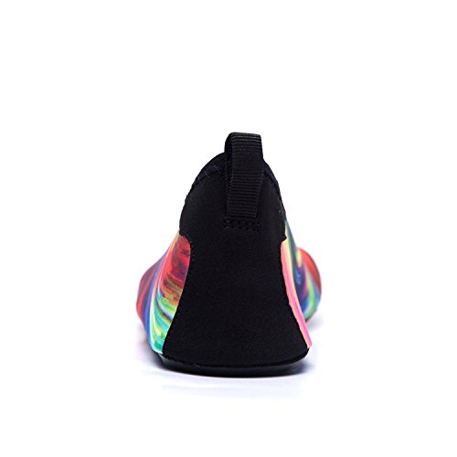 Unisex Color de Playa de LEKUNI Tw Agua Zapatos de multicolor Calzado Zapatos de Agua de Secado Respirable Soles Rápido Piscina Natación LK A456fq6