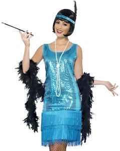 [LanLan Sexy Turquoise 20s Flapper Teal Womens Halloween Costume] (1920s Halloween)