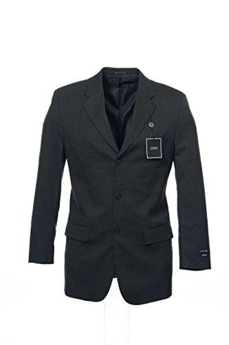 Alfani Pinstripe 3 Button Sport Coat Sports Jacket (Gray, 40 Short) ()