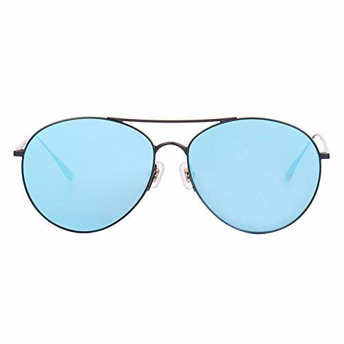 al de de Gafas Sol Blue Sol de Gafas azul de diafragma del Liuxc de Diafragma Gafas de Gafas Personalidad sol negro marco Aire Sol Ligeras Black Ultra Libre Frame awRCnd6q