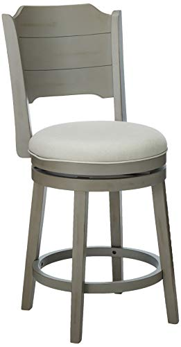 Hillsdale Furniture 4541-826 Hillsdale Clarion, Distressed Gray Wood Swivel Counter Stool, Height