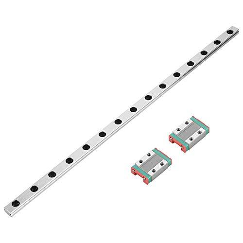 Linear Guide Rail MGN9B 300mm Linear Sliding Gide 9mm Width with 2pcs MGN9B Rail Block for CNC Machine