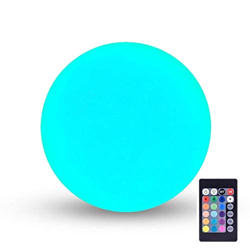 LOFTEK LED Light Ball : 6-inch Cordless Floating Pool Ball with Remote Control, Rechargeable Color Changing Glowing Decor Orb (Certified Refurbished)
