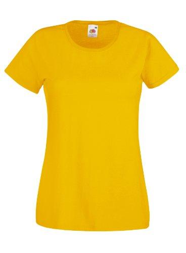 Damen Lady-Fit Kurzarm T-Shirt verschiedene Farben und Größen - Shirtarena Bündel XL,Sonnenblumengelb