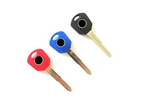3 X Motorcycle Key Blank Uncut Blade For Honda/DIO/CRZ CBR250R CBR300R/CB300F/Fa CBR500R/CB500F/CB500X CBR600RR CB1000R (Honda Motorcycle Key Blank)