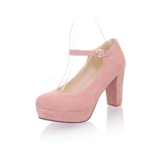 Chunky High Pink Heel Fashion Heels Womens Foot Pump Platform Charm qOBxTPXwB