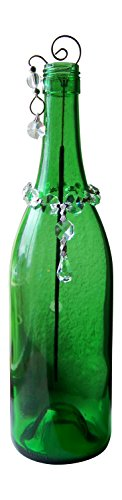 GypsyBeat Emerald Falls Bottle Art Incense Burner Holder/Smoking Bottle - (With 1 Mystery Pack Incense) - GBIB-EMFALLS - Glass Incense Burner