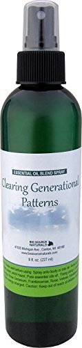Clearing Generational Patterns Essential Oil Blend Aromatherapy Spray with Gem Elixirs & Flower Essences -- Reiki Charged with a Quartz Crystal 8 Fl Oz (227 Ml) by BioSource Naturals (Clearing Essence)