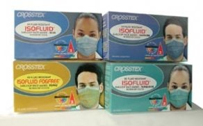 Crosstex Isofluid Face Mask Earloop TEAL 50/BX; 10 BOXES/CASE