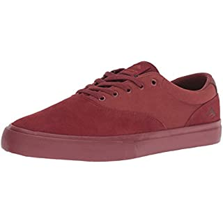 Emerica Provost Slim Vulc Skate Shoe,Burgundy/Brown,6 Medium US