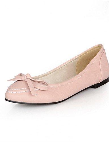 PDX/ Damenschuhe - Ballerinas - Büro / Lässig - Kunstleder - Flacher Absatz - Ballerina - Schwarz / Gelb / Rosa / Weiß under 1in-pink