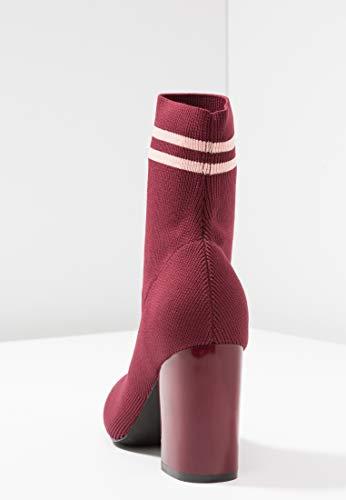 donna top alta alto qualità alla in Stivaletti rosso per scuro Comodo moda similpelle Stivaletti tacco elasticizzato eleganti con di fqwYZ