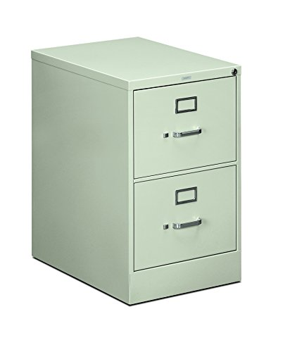 HON 2-Drawer Filing Cabinet - 510 Series Full-Suspension Legal File, 29 by 25-Inch Light Gray (H512) (Cabinet Side Series)
