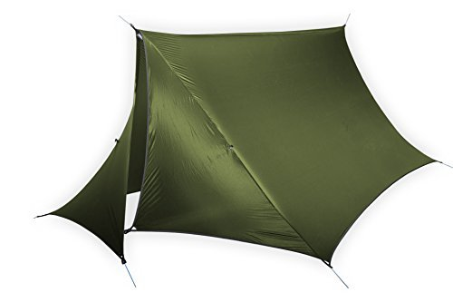 ENO - Eagles Nest Outfitters HouseFly Rain Tarp, Ultralight Camping Tarp, Lichen