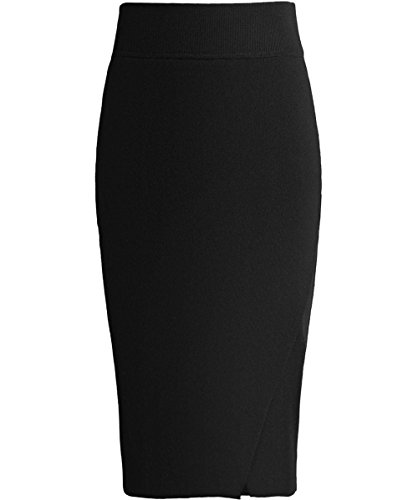 Kendall and Kylie Mujeres falda lápiz de superposición Negro Negro
