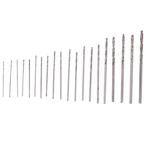 Mini Drill Bit - 20pcs Mini Drill Bit Set 0.3mm 1.6mm Modelcraft With Case Repair Parts Hss Speed Micro Twist Power - Drill Drill Bits Case Aluminum Center Bead Mortise Chisel Micro Titanium Sh