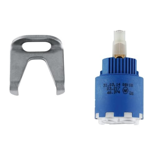 Grohe Cartridge - Grohe 46 374 000 Ceramic Chrome Cartridge With Sealing Disk, 1-3/8