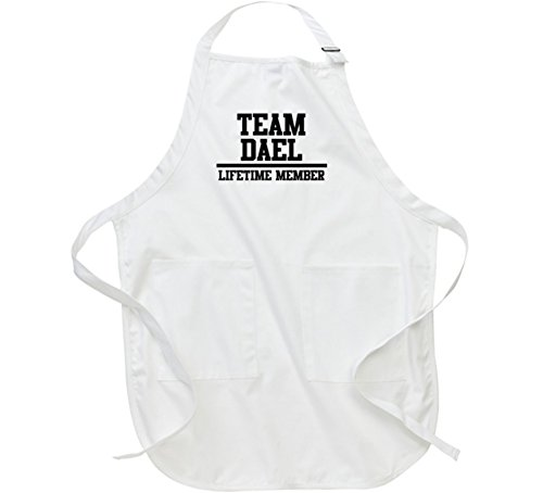 Team Dael Lifetime Member Name Father's Day Gift Apron L White
