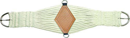 Abetta Basket Tooled Roping Cinch 27 Strand -