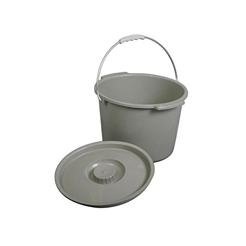 Bariatric Commode Bucket - Medline MDS80306B Commode Buckets with Handle and Lid (Pack of 6)