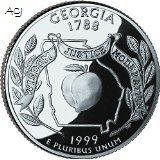 1999-P Georgia BU State Quarter