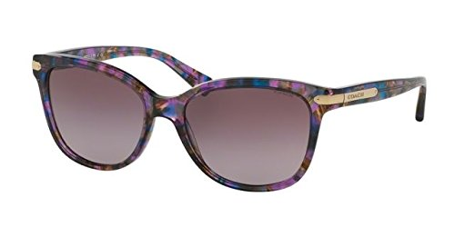 Coach Womens L109 Sunglasses (HC8132) Purple/Purple Acetate - Non-Polarized - - Hut Sunglass Sunglasses