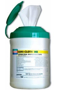 (Model#Q85484) Sani-Cloth® HB Hard Surface Disinfectant Wipes X-Large (7.5 x 15 Inch) - 1/Canister of 65 by PDI-Professional Disposables
