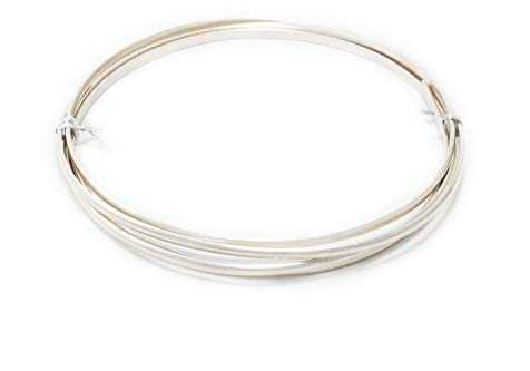 1 Ounce (6 Ft) 1/10 Sterling Silver Filled Wire 12 Gauge, Half Round, Dead Soft - from Craft Wire