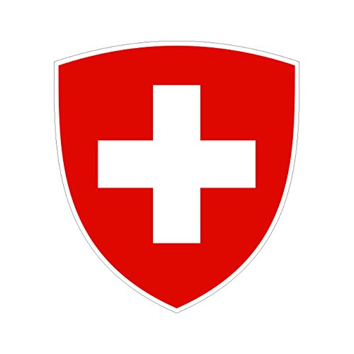 Swiss Coat of Arms Sticker Die Cut Decal Self Adhesive FA Vinyl
