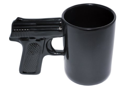 AGS Brands Ceramic Gun Mug (Black, 16.9-Ounce)