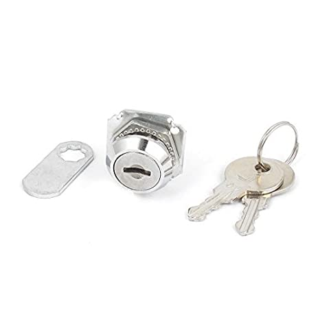 Seguridad DealMux Oficina Armario Vitrina cajón de puerta de metal cerradura de la leva w 2 Llaves: Amazon.es: Bricolaje y herramientas