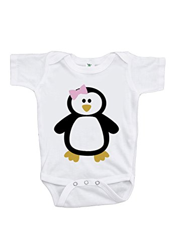 7 ate 9 Apparel Baby Girl's Penguin Onepiece 0-3 Months Pink -