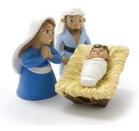 Figurine-Set-Tales Of Glory-Birth Of Baby Jesus (3 Piece Set)