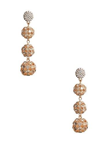 Guess Designer Earrings - GUESS Women's Bobble Linear Earrings