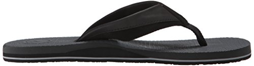 Volcom Heren Lounging Sandaal Flip Flop Zwart / Houtskool